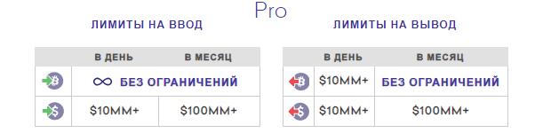 Лимиты Pro