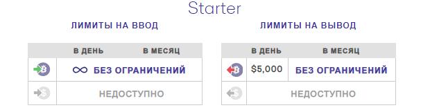 Лимиты Starter