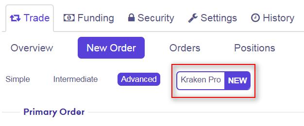 Подраздел Kraken Pro