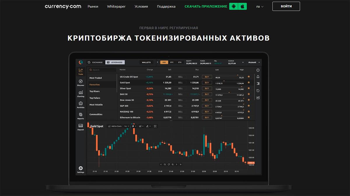 Главная страница Currency